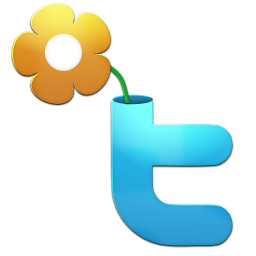 Twitter clipart size svg free library Twitter Flower Icon, PNG ClipArt Image | IconBug.com svg free library