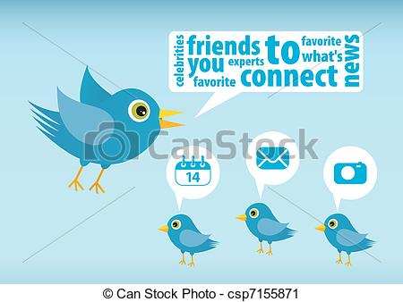 Twitter clipart vector clipart freeuse download Twitter Vector Clipart EPS Images. 1,271 Twitter clip art vector ... clipart freeuse download