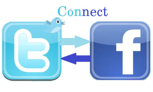 Twitter facebook clipart banner library library How to Connect Twitter and Facebook - Newbie Gate banner library library