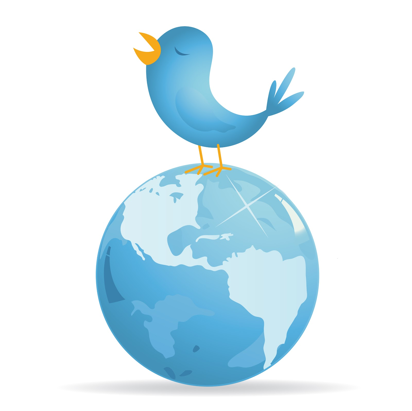 Twitter globe clipart image library GRAPH] Twitter's Popularity Around the Globe | MMXLII image library