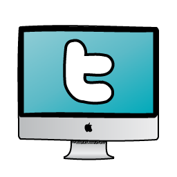 Twitter icon clipart banner black and white stock Kiddie Twitter Monitor Icon, PNG ClipArt Image | IconBug.com banner black and white stock