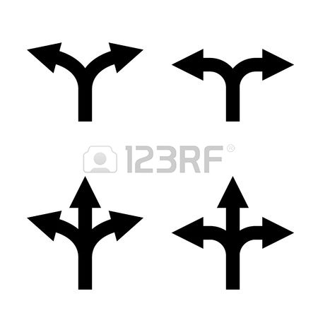 Two and three arrow clipart picture library stock Arrow two direction clipart - ClipartFest picture library stock