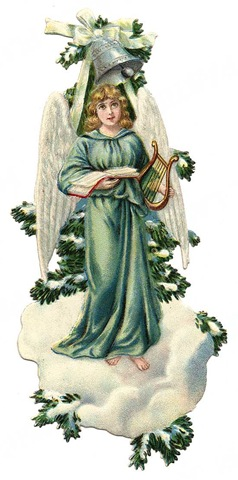 Two angels victorian clipart jpg royalty free download Free Vintage Angels and Cherubs Clip Art - Vintage Holiday ... jpg royalty free download