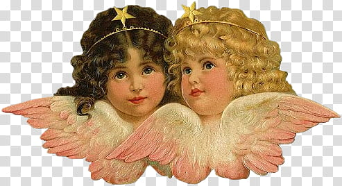Two angels victorian clipart png black and white download VICTORIAN angel quaddles, angel portrait transparent ... png black and white download