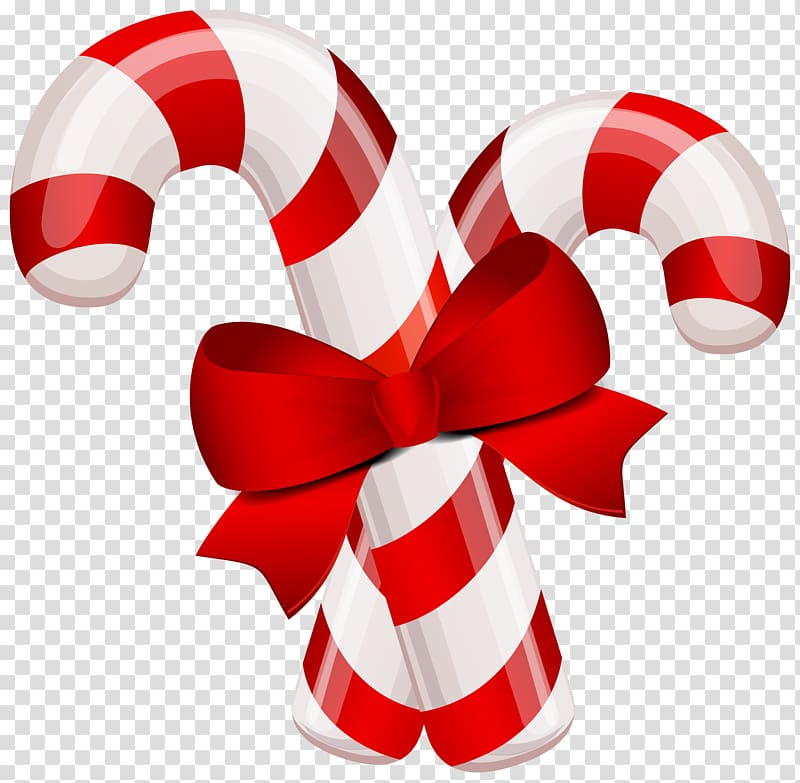 Two ball cane png clipart clip free download Two red-and-white candy canes illustration, Candy cane Stick ... clip free download