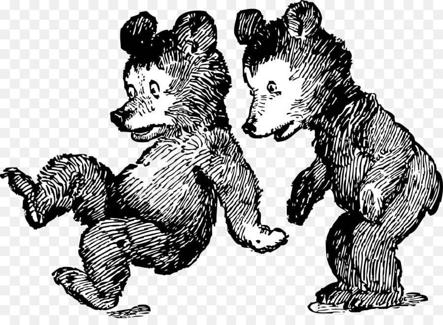 Two bear cubs clipart black png black and white stock Panda Drawing clipart - Bear, Tree, Cat, transparent clip art png black and white stock