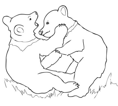 Two bear cubs clipart black clipart royalty free library Grizzly clipart two bear - 33 transparent clip arts, images ... clipart royalty free library