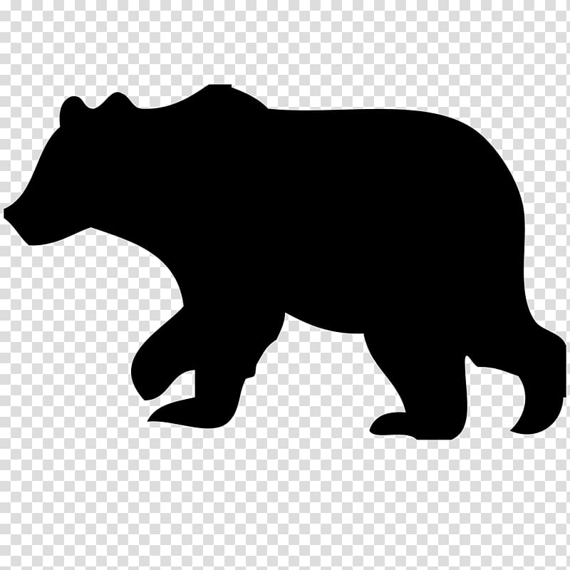 Two bear cubs clipart black graphic download American black bear Polar bear Silhouette , bear transparent ... graphic download