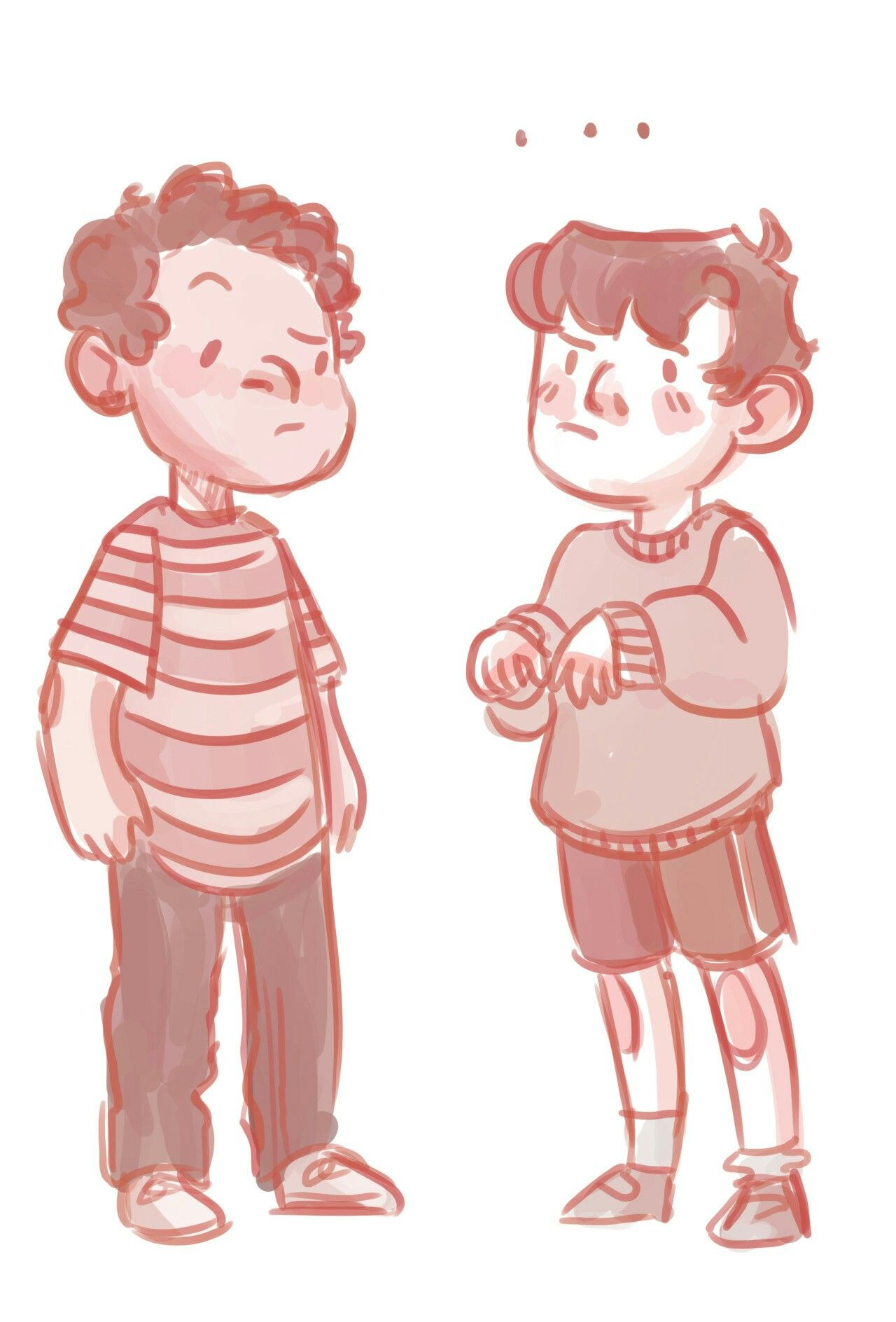 Two boys clipart different heights picture stock I am Usnavi and-\
