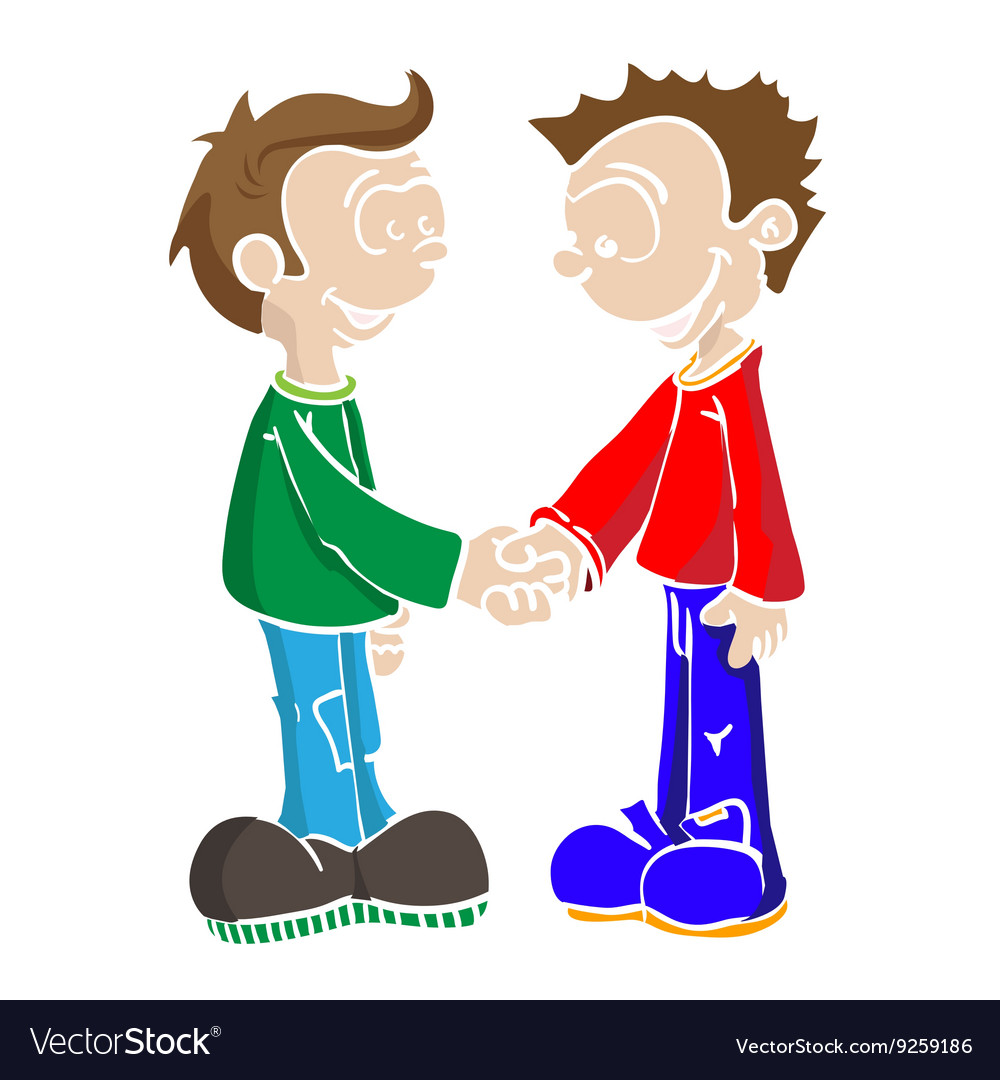 Two boys shaking hands clipart png black and white library Two boys shaking hands png black and white library