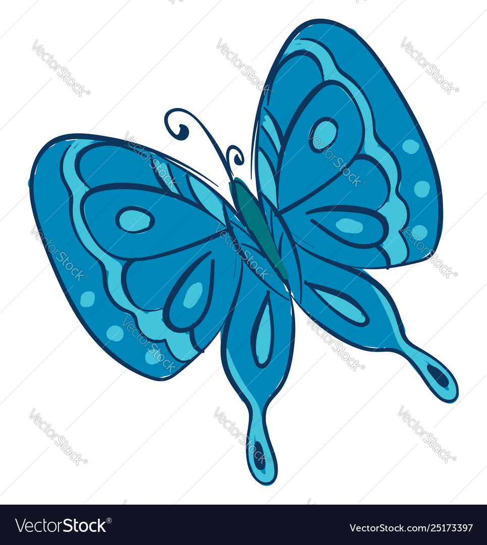 Two butterflies clipart picture library Clipart a blue butterfly or color picture library