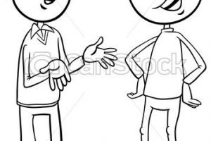 Two children talking clipart black and white clip royalty free download Kids talking clipart black and white 2 » Clipart Portal clip royalty free download