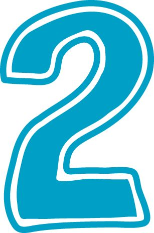 Two clipart transparent stock Blue number 2 clipart - ClipartFest transparent stock