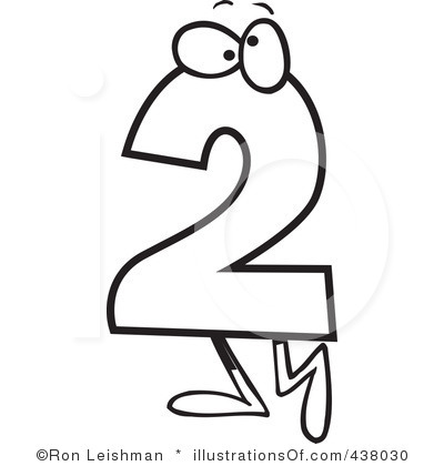 Two clipart graphic royalty free stock Number Two Clipart | Clipart Panda - Free Clipart Images graphic royalty free stock