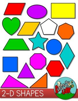 Dimensional clipart png library library 2D Shapes Clip art | Pre-K ~ 8 Hot Off the Presses! Latest ... png library library