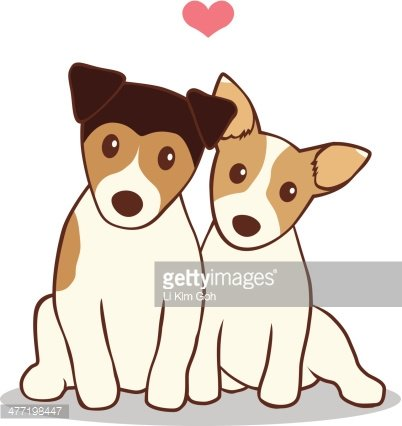 Two dogs clipart banner stock Two Dogs Fall IN Love premium clipart - ClipartLogo.com banner stock