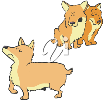Two dogs clipart image download Royalty Free Clipart Image of Two Dogs Looking at Another ... image download