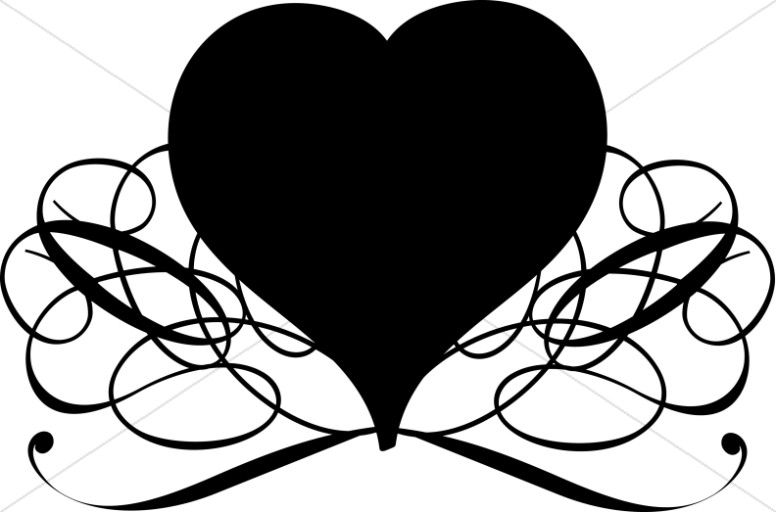 Valentine s day banner clipart black and white clip art free library Fancy Heart Clipart | Free download best Fancy Heart Clipart ... clip art free library