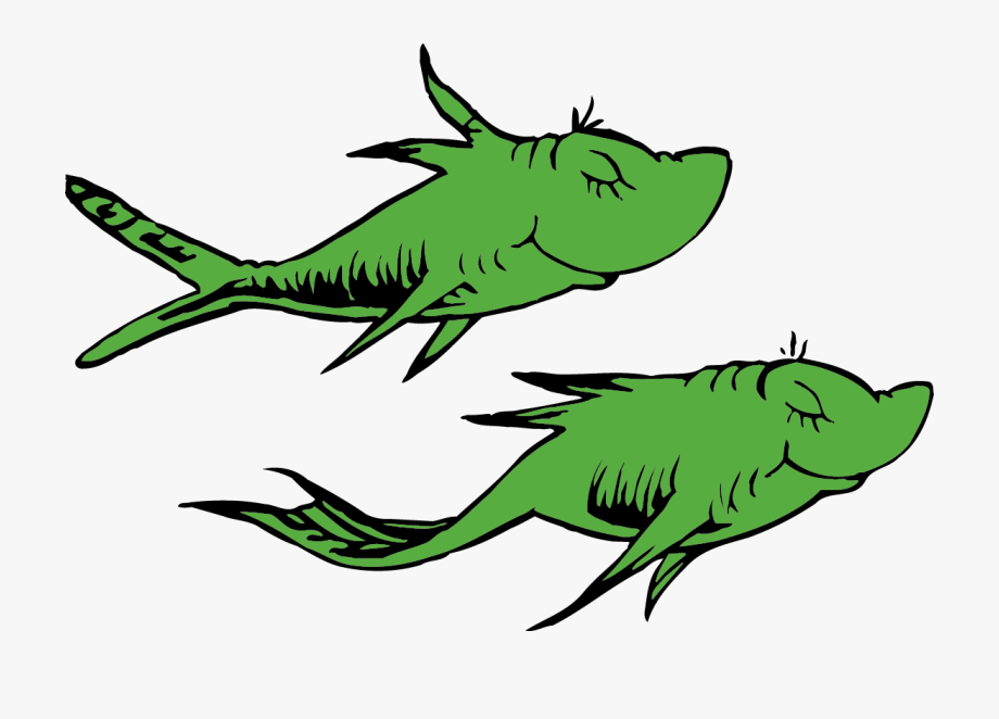 Two fishe clipart clipart transparent library Tropical Fish Clipart - Two Green Fish Dr Seuss ... clipart transparent library