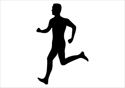 Two guys jogging png clipart clipart freeuse library Free Running Man Silhouette Png, Download Free Clip Art ... clipart freeuse library