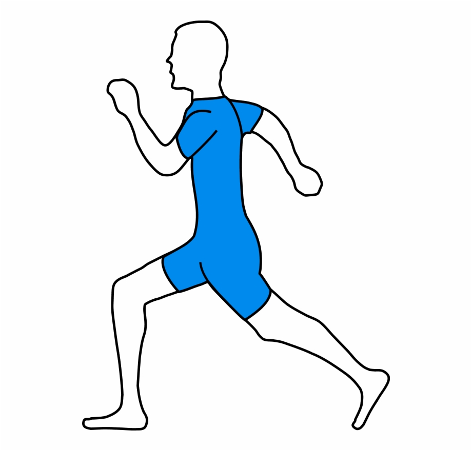 Two guys jogging png clipart svg royalty free Man Athlete Jogging - Draw A Running Man, Transparent Png ... svg royalty free