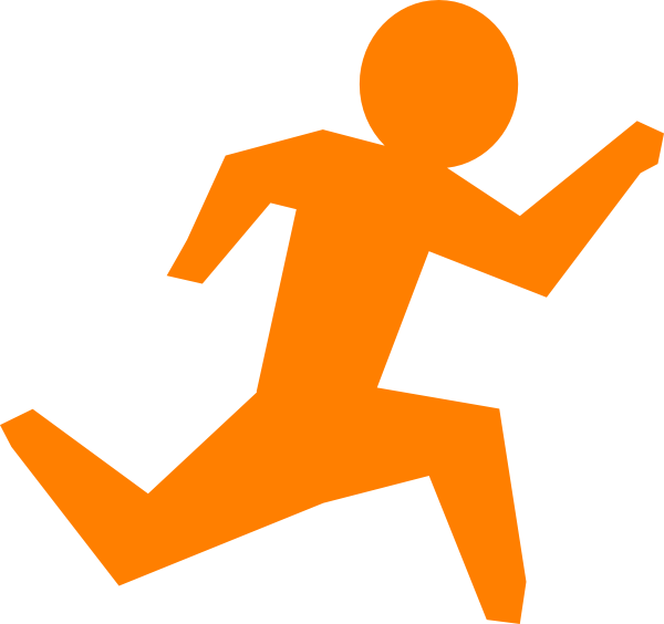 Two guys jogging png clipart banner transparent stock Stick Man Running Clipart   Free download best Stick Man ... banner transparent stock