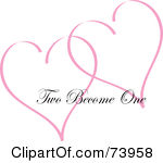 Two hearts become one clipart picture freeuse download Royalty Free Anniversary Illustrations by Pams Clipart Page 1 picture freeuse download