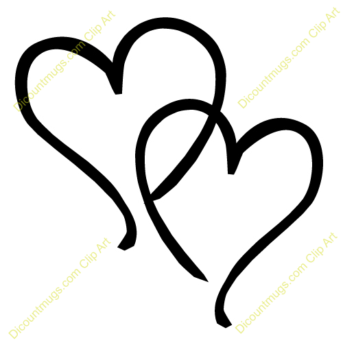 Two hearts clipart jpg royalty free download Interlocking Hearts Clip Art Two Hearts Clipart #G3vDAx - Clipart Kid jpg royalty free download