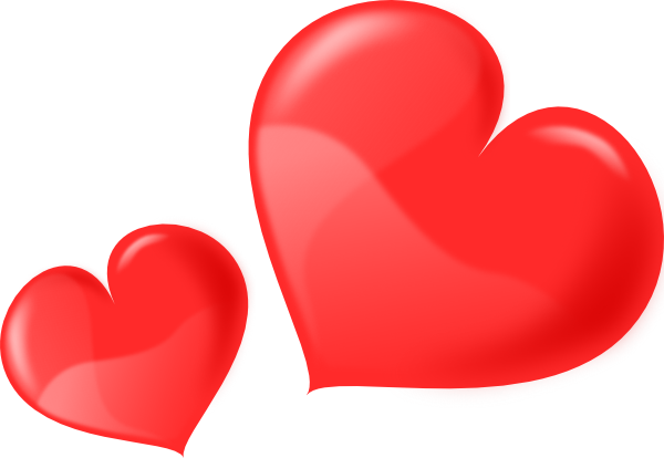 Two hearts clipart vector Two Hearts Clipart - Cliparts and Others Art Inspiration vector