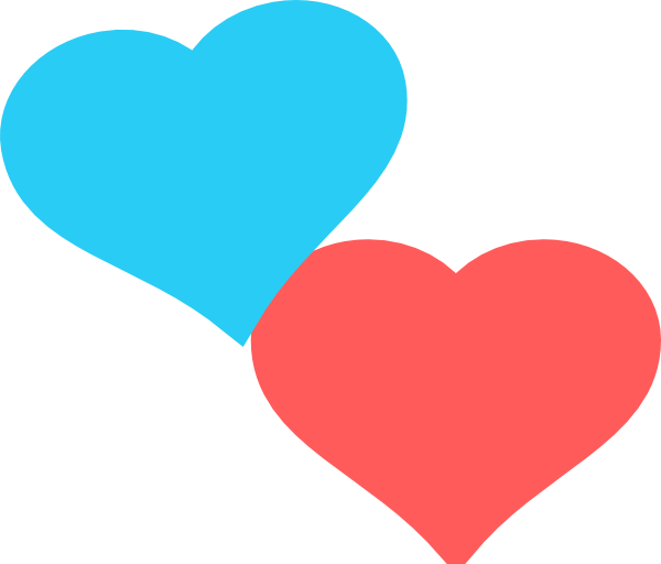 Two the cliparts blue. Clipart 2 hearts