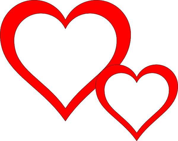 Two hearts clipart black and white clip royalty free stock Two hearts clipart black and white - ClipartFest clip royalty free stock