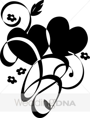 Two hearts clipart black and white image library download Two Hearts Black Clipart - Clipart Kid image library download