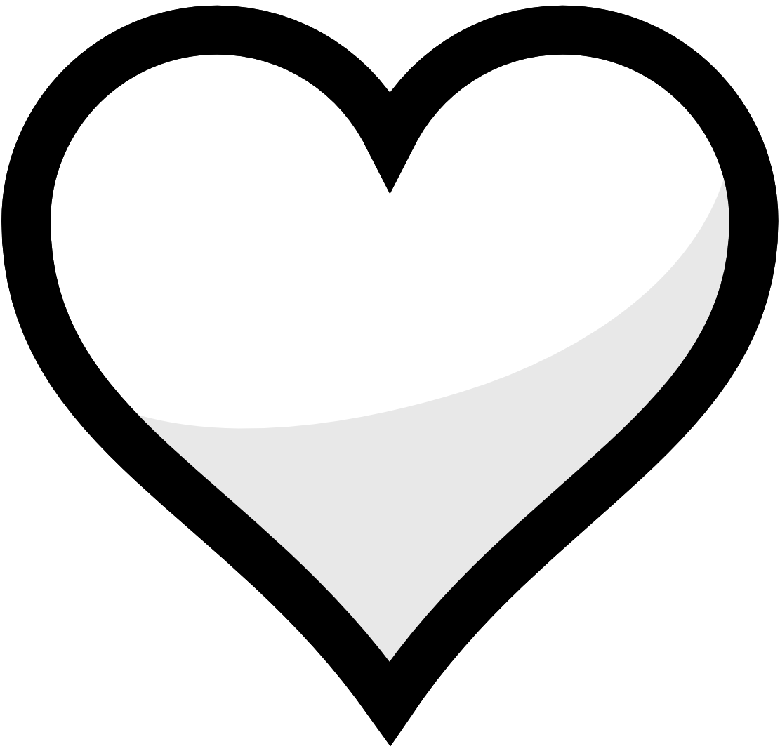 Double heart clipart black and white graphic royalty free Two Hearts Black And White Clipart - Clipart Kid graphic royalty free