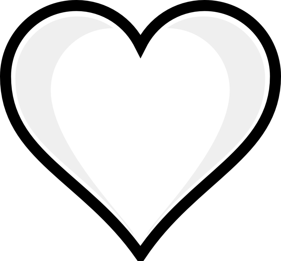 Happy heart clipart black and white jpg free Two hearts clipart black and white - ClipartFest jpg free