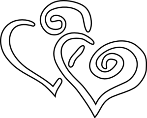 Two hearts clipart black and white graphic royalty free download Two Hearts Black Clipart - Clipart Kid graphic royalty free download