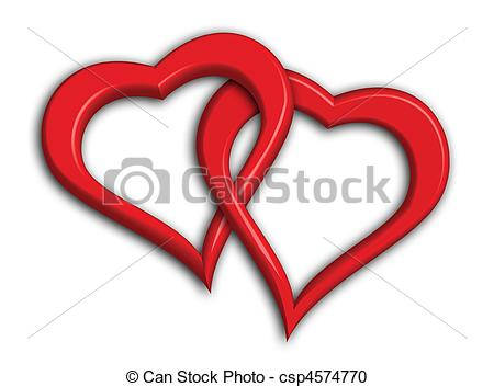 Two hearts intertwined clipart jpg royalty free Two hearts Illustrations and Clipart. 16,545 Two hearts royalty ... jpg royalty free