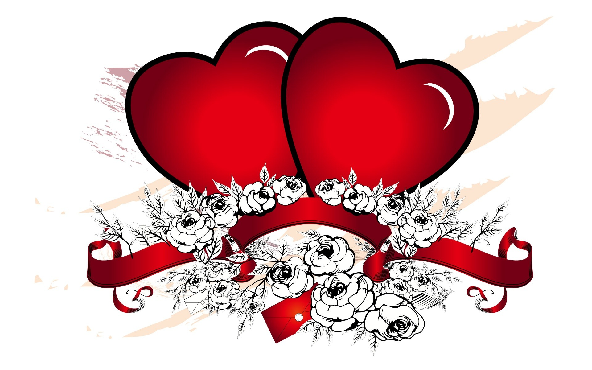 Two hearts one love clipart clip freeuse library 2 Hearts – Free wallpaper download clip freeuse library