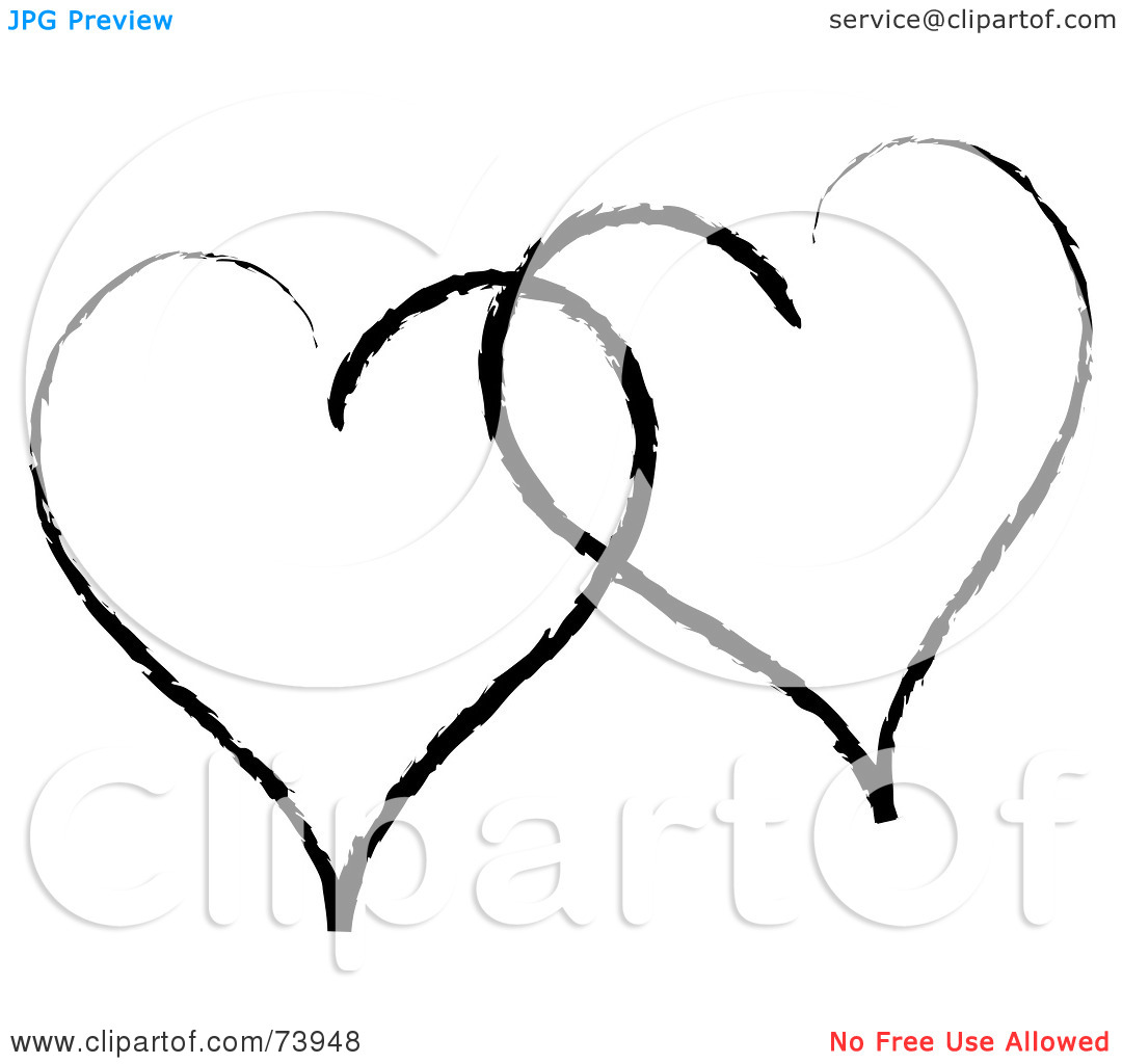 Two hearts outline free clipart stock Two Hearts Clipart | Clipart Panda - Free Clipart Images stock