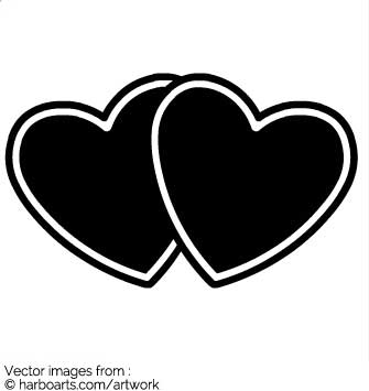 Two hearts outline free clipart image download Two Hearts - Dropssol.com image download