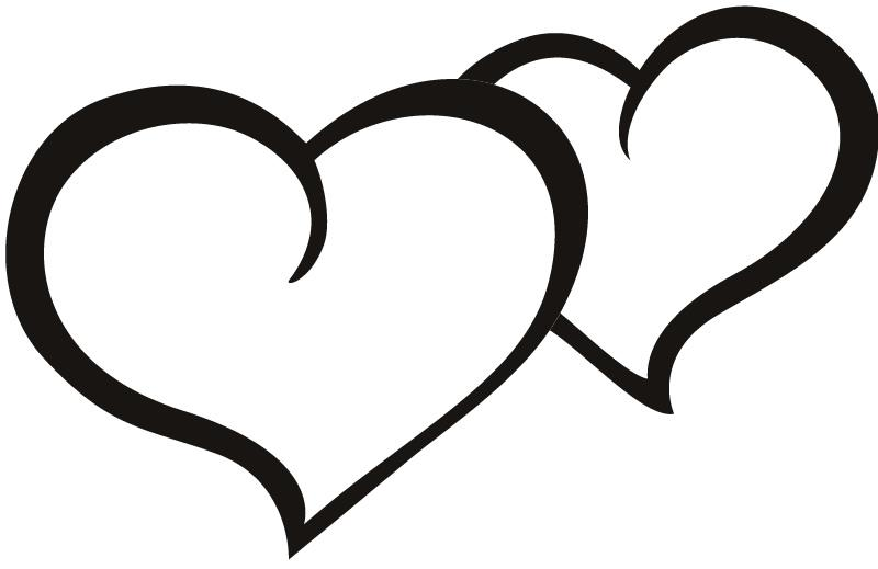 Two hearts outline free clipart image freeuse Free Heart Stencils - ClipArt Best image freeuse