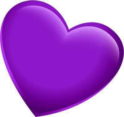 Two joined purple heart clipart image black and white download Purple Heart | flowers, other pretty things and etc. | Heart ... image black and white download