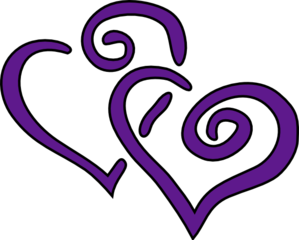 Two joined purple heart clipart vector royalty free stock Purple Hearts Clip Art at Clker.com - vector clip art online ... vector royalty free stock