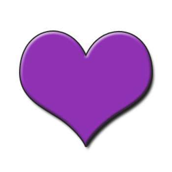 Two joined purple heart clipart png library library Purple heart clipart 2 » Clipart Portal png library library