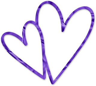 Two joined purple heart clipart image black and white stock Purple Heart Clipart | Clipart Panda - Free Clipart Images image black and white stock