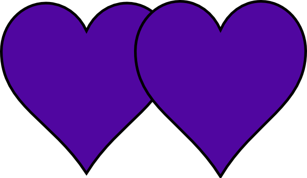 Two joined purple heart clipart clip transparent download Two Purple Hearts Clip Art at Clker.com - vector clip art ... clip transparent download