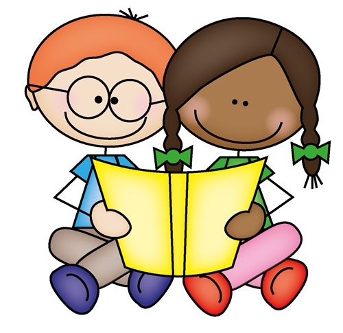 Two kids reading clipart freeuse Kids Reading Clipart Two Kids Reading Together Clipart ... freeuse