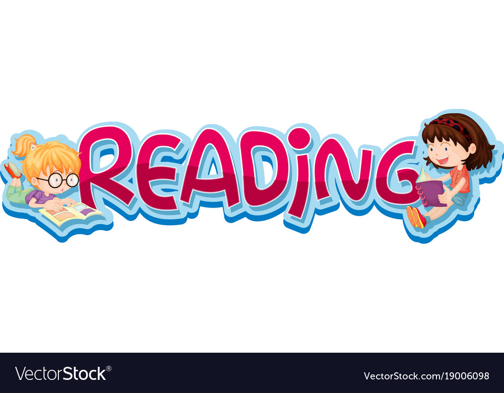 Two kids reading clipart