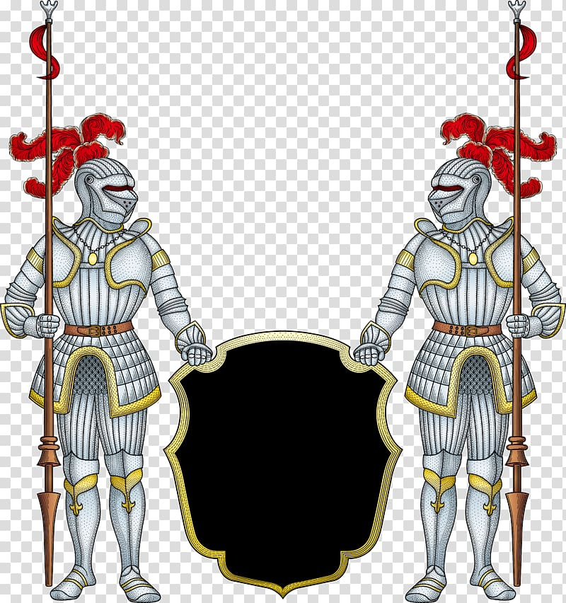 Two knights clipart jpg Two knights holding shields illustration, Japanese armour ... jpg