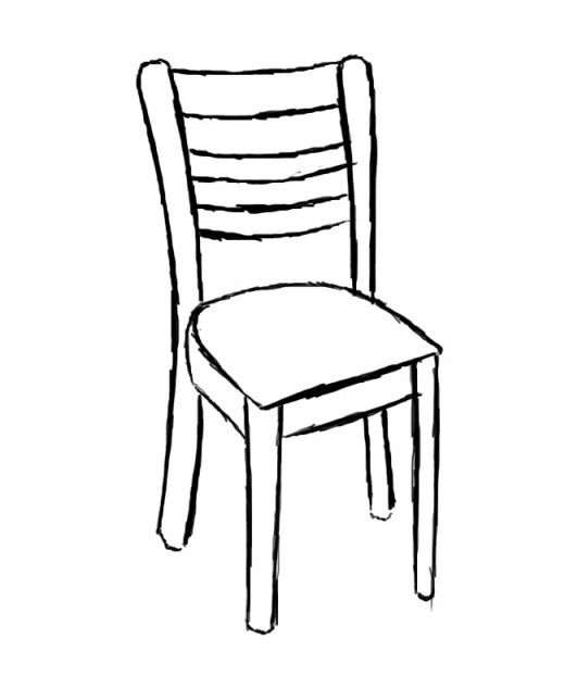 Two lines of chairs clipart vector freeuse How to Draw a Chair | FeltMagnet vector freeuse
