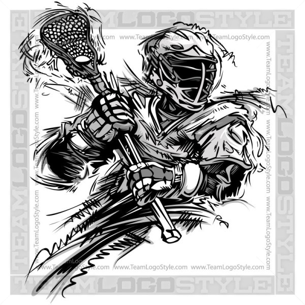 Two little lacrosse players clipart picture royalty free Vector Lacrosse Design - Vector Clipart Lacrosse Player picture royalty free
